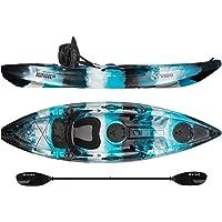 Vibe Kayaks Skipjack 90 9-Foot Angler Sit On Top Fishing Kayak Paddle Deluxe Kayak Seat