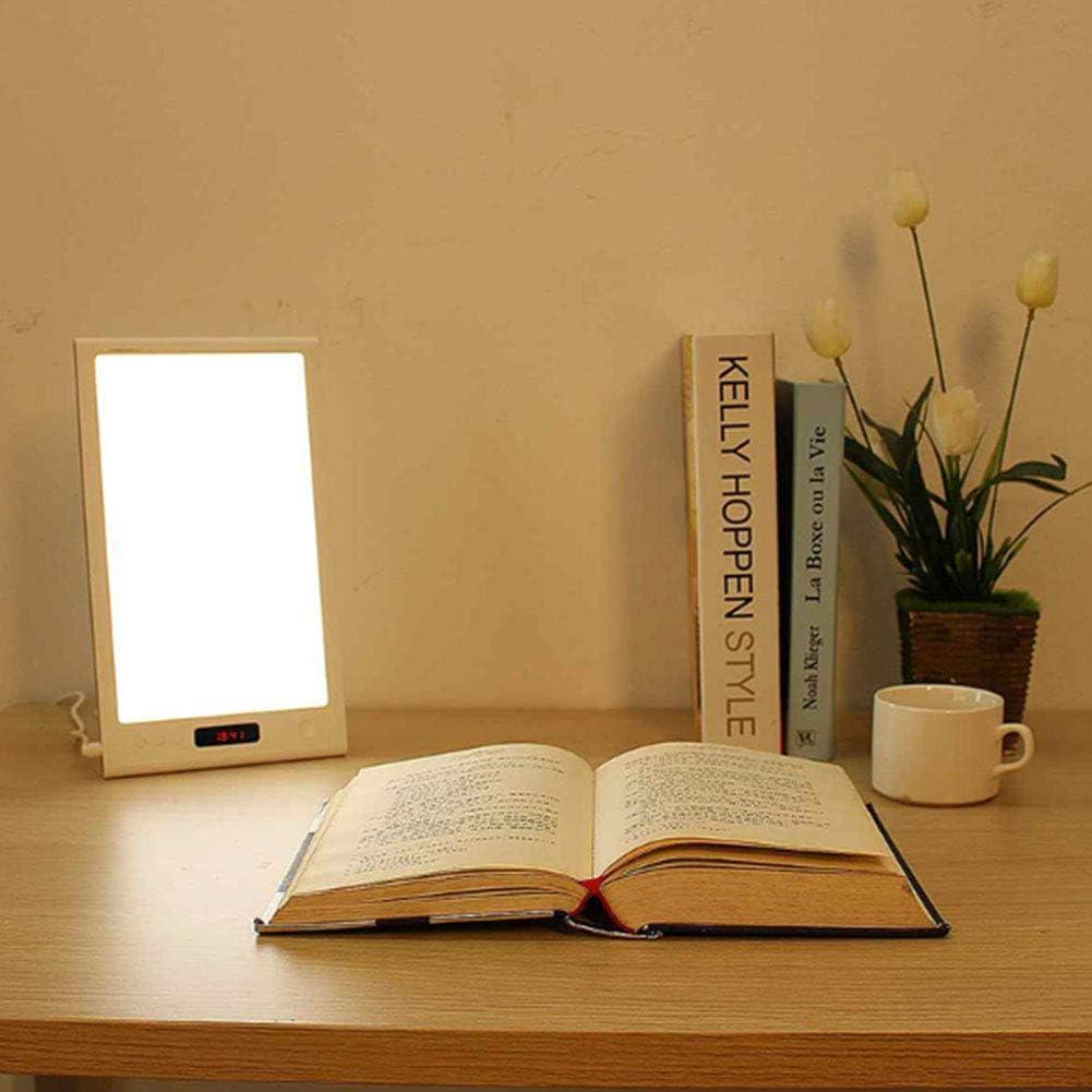 SAD Tageslichtlampe 12000 Lux Therapy Energy Lampe 4 Helligkeits und 5 Timer Einstellungen Professional UV-frei Vollspektrum kompakte Lightbox f/ür Happy Life Ouoy