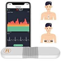 ViATOM Hartslagmonitor Borstband, Bluetooth ANT+ met pads voor lichaamsbeweging, 30 min. Waveform Recording, 24-uurs…