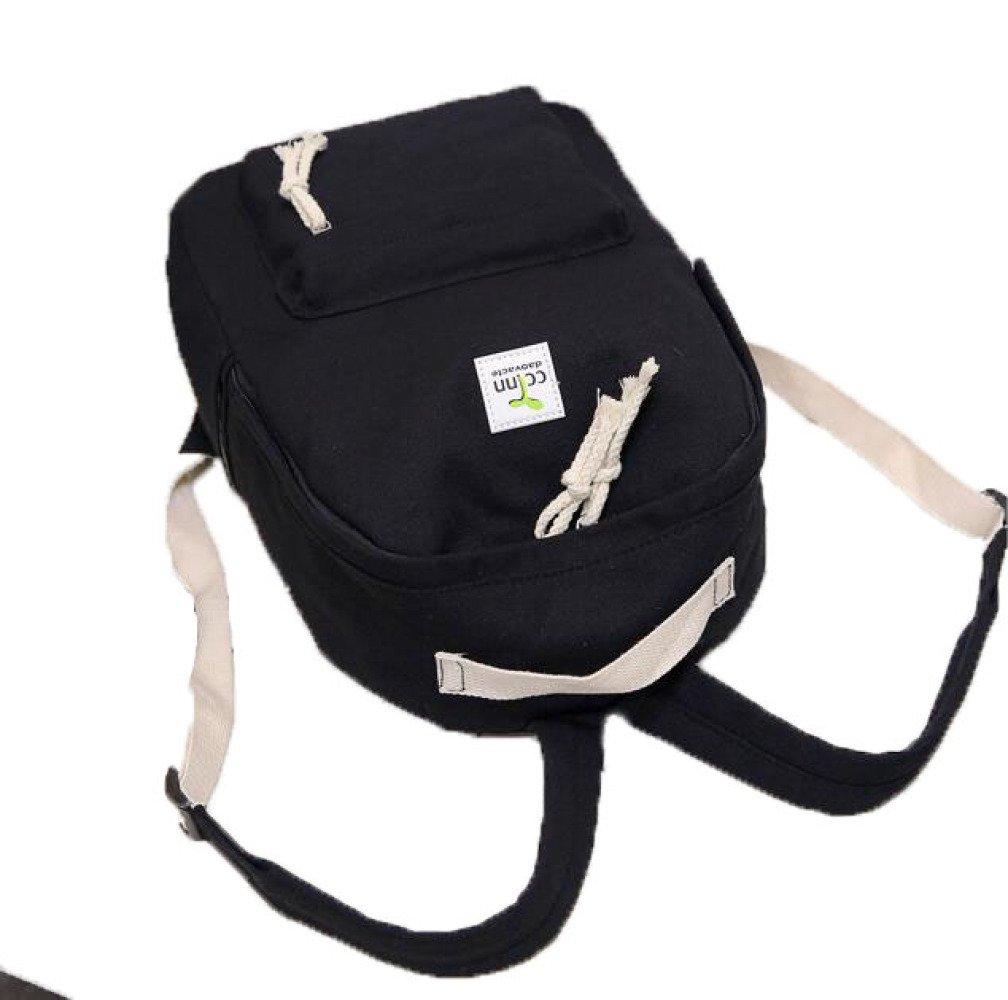 MYLL MYLL MYLL 2 Stück Frauen Rucksack Handtasche Canvas Umhängetasche Ideal Für Frauen Damen Mädchen College Gym Arbeit Sport,schwarz B07DMLKK55 Rucksackhandtaschen Echt e0f1f2