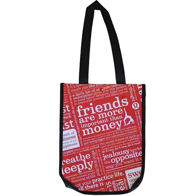 8b4cdf43c0 Lululemon Reusable Tote Carryall Handbags Size  12 x 15 x 6  Amazon ...