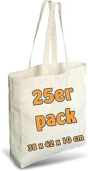 25 unidades de bolsa de algodón y yute, con pliegue de páginas de ...