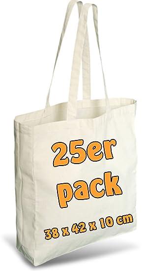 Einkaufsbeutel Baumwolltragetasche Stoffbeutel 3 oder 5 Stück 100/% Natur