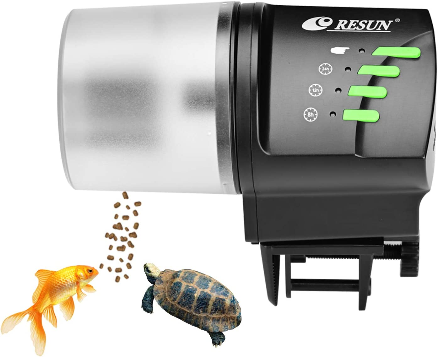 lychee Automatic Fish Feeder, 100/200ml Auto Fish Food Dispenser Aquarium Tank Adjustable Timer for Holiday Vacation Weekend (AF2020)