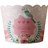 Beiersi Cupcake Wrappers Cupcake Förmchen Backen Tassen Liner Papier Muffin Förmchen Hohe Temperaturbeständige 24 Pcs