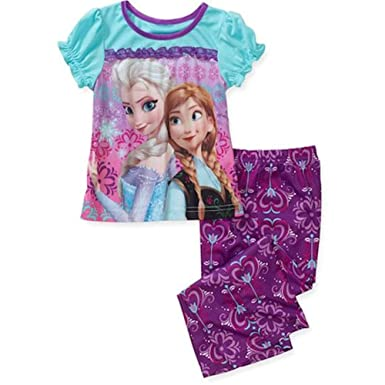 Disney Frozen Anna And Elsa Pajama Set Toddler Size 24M