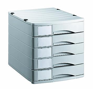 Rotho 10700Mk000 Profiline - Cajón Archivador de Oficina (5 Cajones) A4, color gris: Amazon.es: Hogar