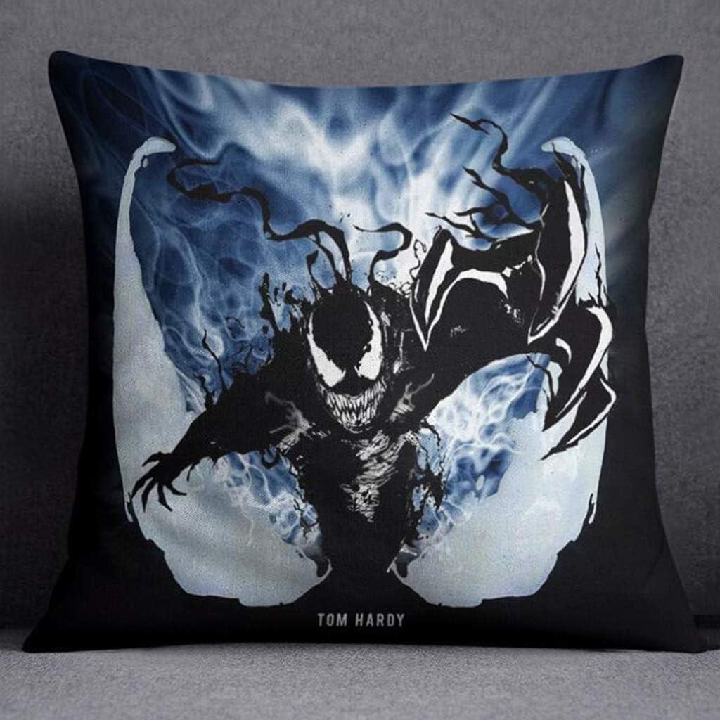 MIAOLIDP Cushion Pillow Cushion Black Spiderman Venom Pillow Core PP Cotton Waist Cushion Geometric cushions Color : A, Size : 35cm