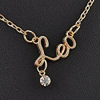 Charming Zodiac Guardian Star Clavicle Chain Letter Pendant Couple Necklace Gift LOVE STORY (Leo)