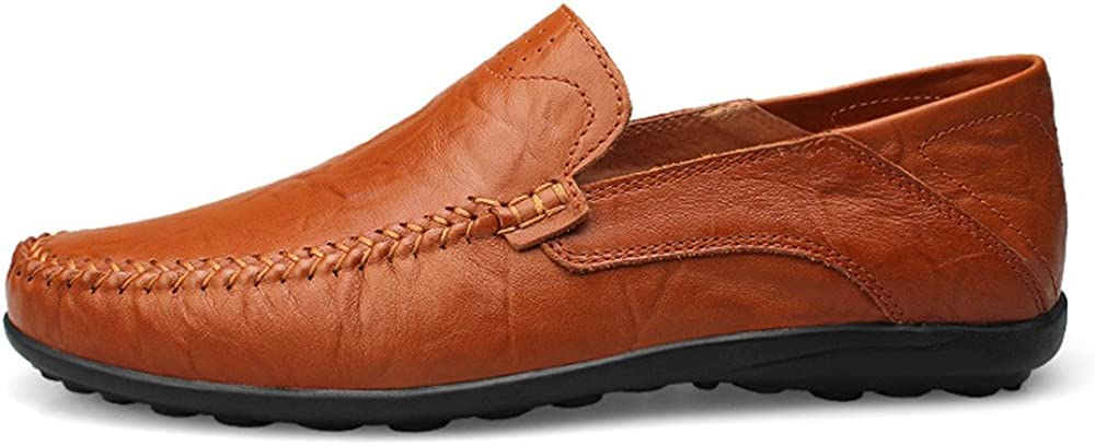 Mens Fashion New Casual Moccasins Slip On Soft Driving Loafer Slipper Color : Red Brown Hollow Vamp, Size : 11 D M US CHENDX Shoes