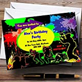 Paintball Laser Tag Personalized Birthday Party Invitations
