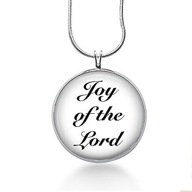 Funjewelryshop Joy of The Lord Necklace - Religion Handmade