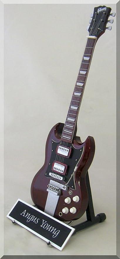 Angus Young Guitarra en miniatura AC/DC con nombre