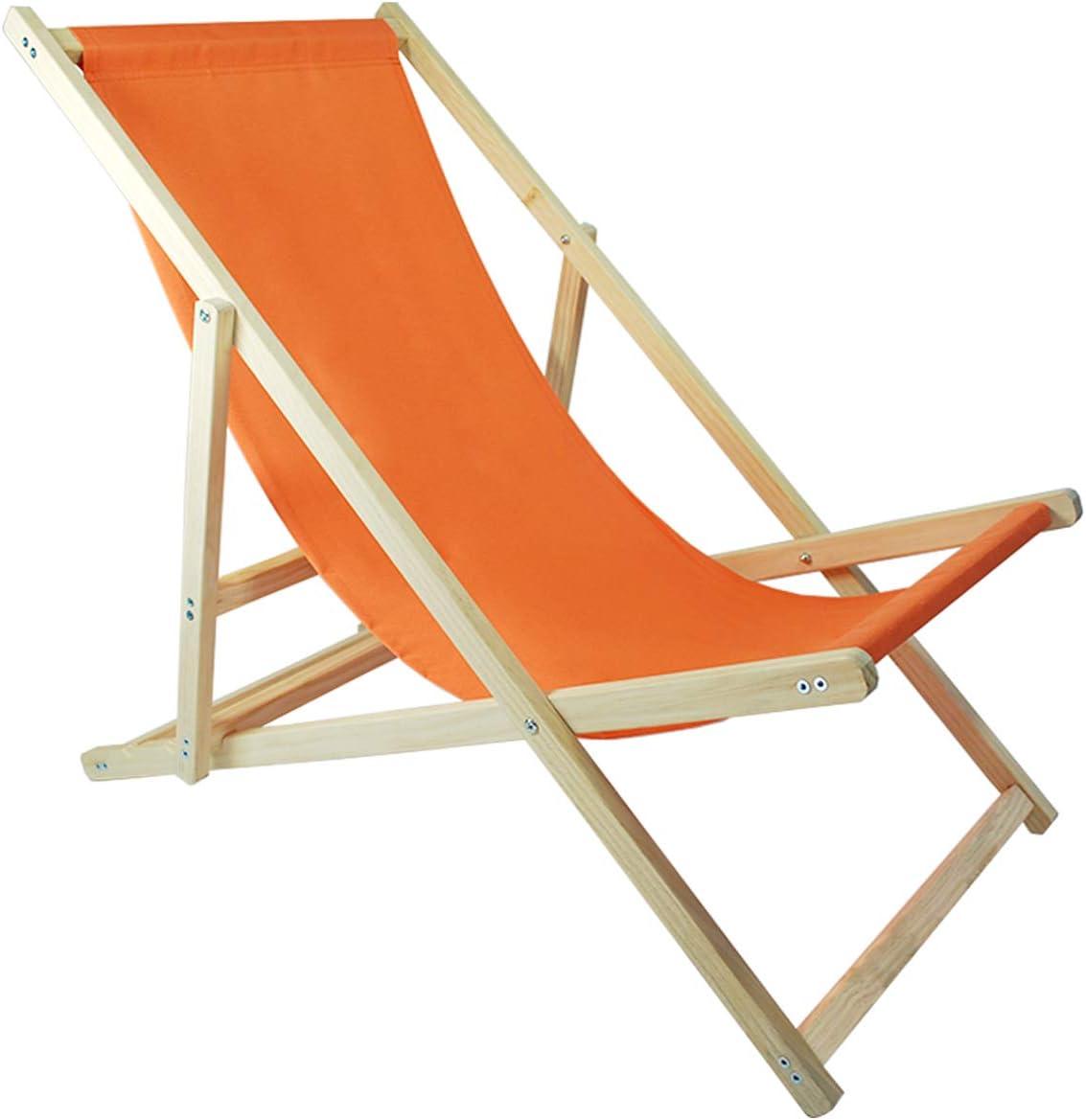 Sonnenstuhl Farbe: Blau wasserabweisender Bezug aus Oxford-Gewebe 3-Fach verstellbare Lehne Strandstuhl aus Kieferholz Helo Garten Strand Liegestuhl klappbar aus Holz bis 120 kg belastbar