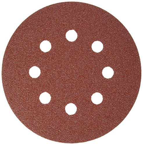 (Bosch SR5R080 5-Piece 80 Grit 5 In. 8 Hole Hook-And-Loop Sanding Discs )