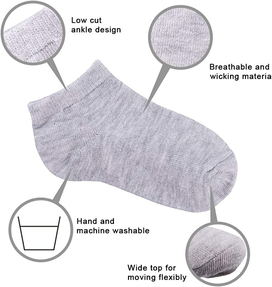Duufin 25 Pairs Toddler Ankle Socks Low Cut Kids Half Cushion Socks Low Rise Ankle Socks for Boys and Girls: Clothing