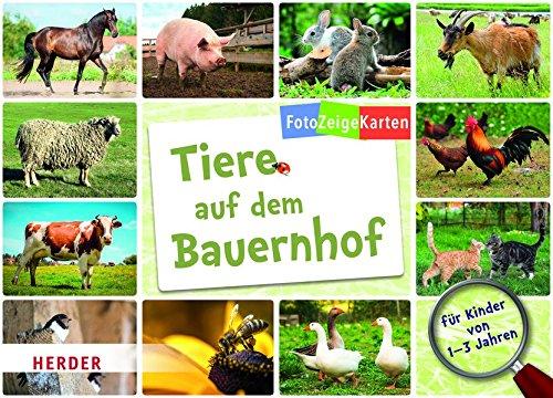 FotoZeigeKarten: Tiere auf dem Bauernhof: 32 Karten mit großem Wissensposter
