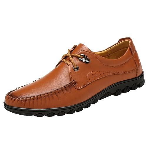 SK Stutio Hombre Mocasines de Cuero Casual Loafers Moda Negocio Zapatos de Conducción Zapatillas Plano Slip On: Amazon.es: Zapatos y complementos