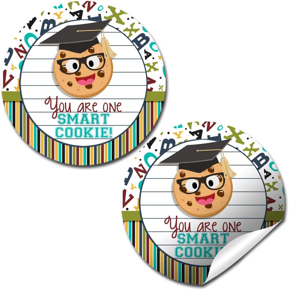 10 Pak Graduation Favor Bags  One Smart Cookie  Sprinkles  5x7  Boy Girl  Personalized  Popcorn Cookie Candy  3 Day Ship