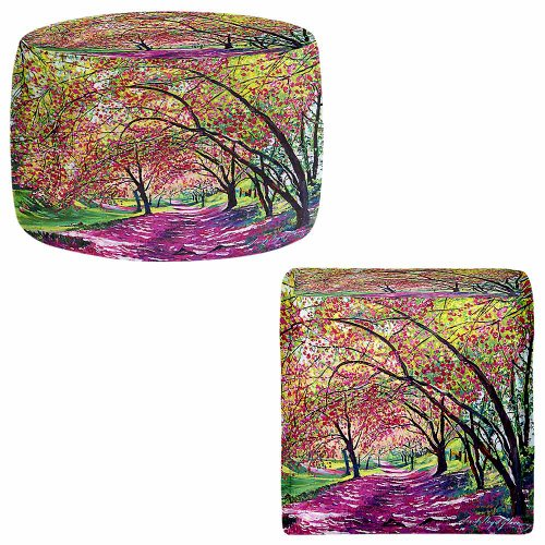 DiaNoche Designs Foot Stools Poufs Chairs Round or Square from by David Lloyd Glover - Lazy Afternoon Central Park