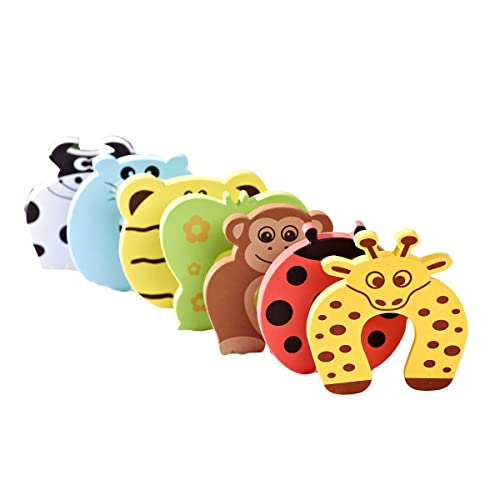 6x Baby safety Foam Door Stoppers Animal Designs