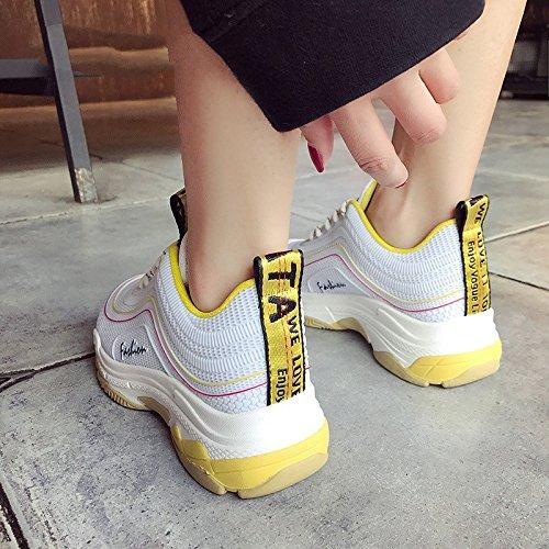 De Deportivos Transpirable Mujer NGRDX Plataforma Casual Zapatos Malla De Casuales amp;G Deportivos Mujer Mujeres Tamaño Zapatos Zapatos 40 Black De qwEEYI