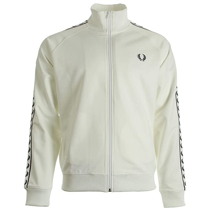Fred Perry Taped Track Jacket Snow White, Chaqueta deportiva - XL