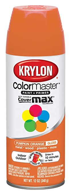 Krylon 52411 Pumpkin Orange Interior And Exterior Decorator Paint 12 Oz Aerosol