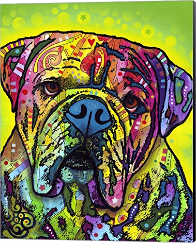Hey Bulldog by Dean Russo Canvas Art Wall Picture, Museum Wrapped with Black Sides, 16 x 20 inches