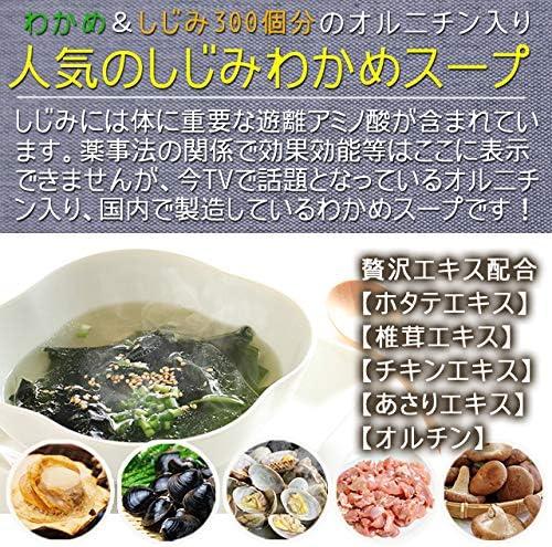 お試し しじみわかめスープ 10食 オルニチン しじみ300個分 低カロリースープ (オニオン&わかめランダム合計10袋)