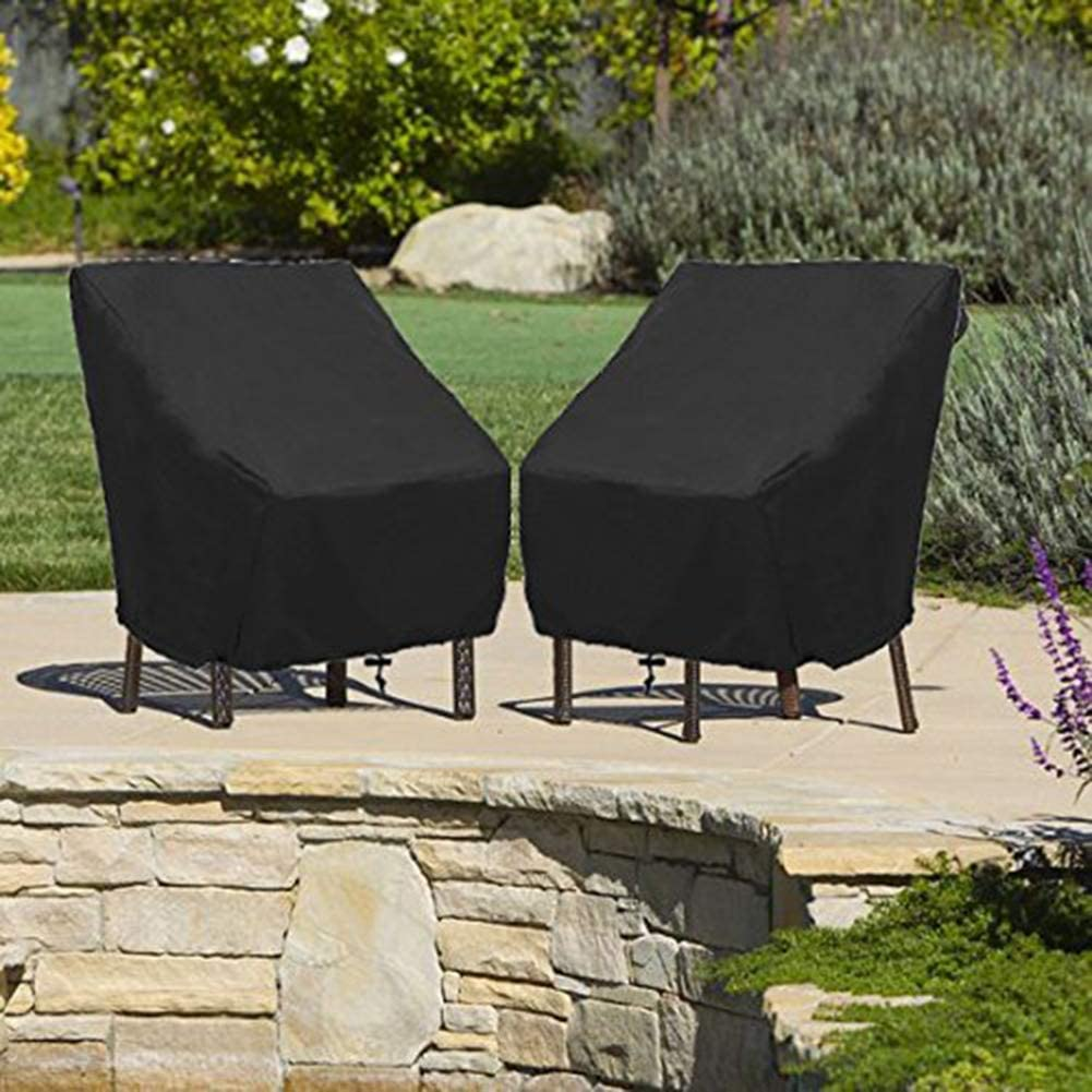 Black Garosa Furniture Cover Patio Cover Waterproof Outdoor Furniture Lounge Porch Sofa Chair Waterproof Dust Proof Protective Loveseat Covers