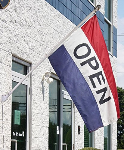 3x5 Open for Business Flag Kit Includes Flag, Pole, & Angled