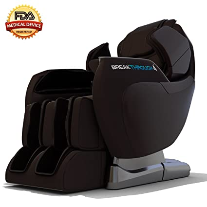 Medical Breakthrough 4 Massage Chair Recliner - Zero Gravity, Built-in Heat, Deep Tissue Shiatsu Massage, and Back Stretch (Brown)