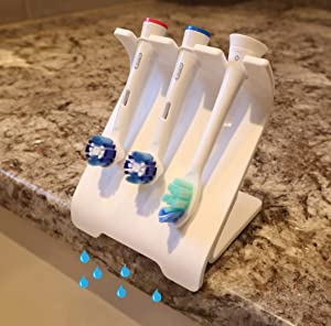 SELF-DRAINING Toothbrush Holder | Electric Toothbrush Holder | No Mess, Hygienic Toothbrush Head Holder | No Grime Build-Up