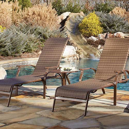 Panama Jack Island Cove Woven 3 PC Chaise Lounge set (2 Chaise Lounges & 1 End Table) by Panama Jack