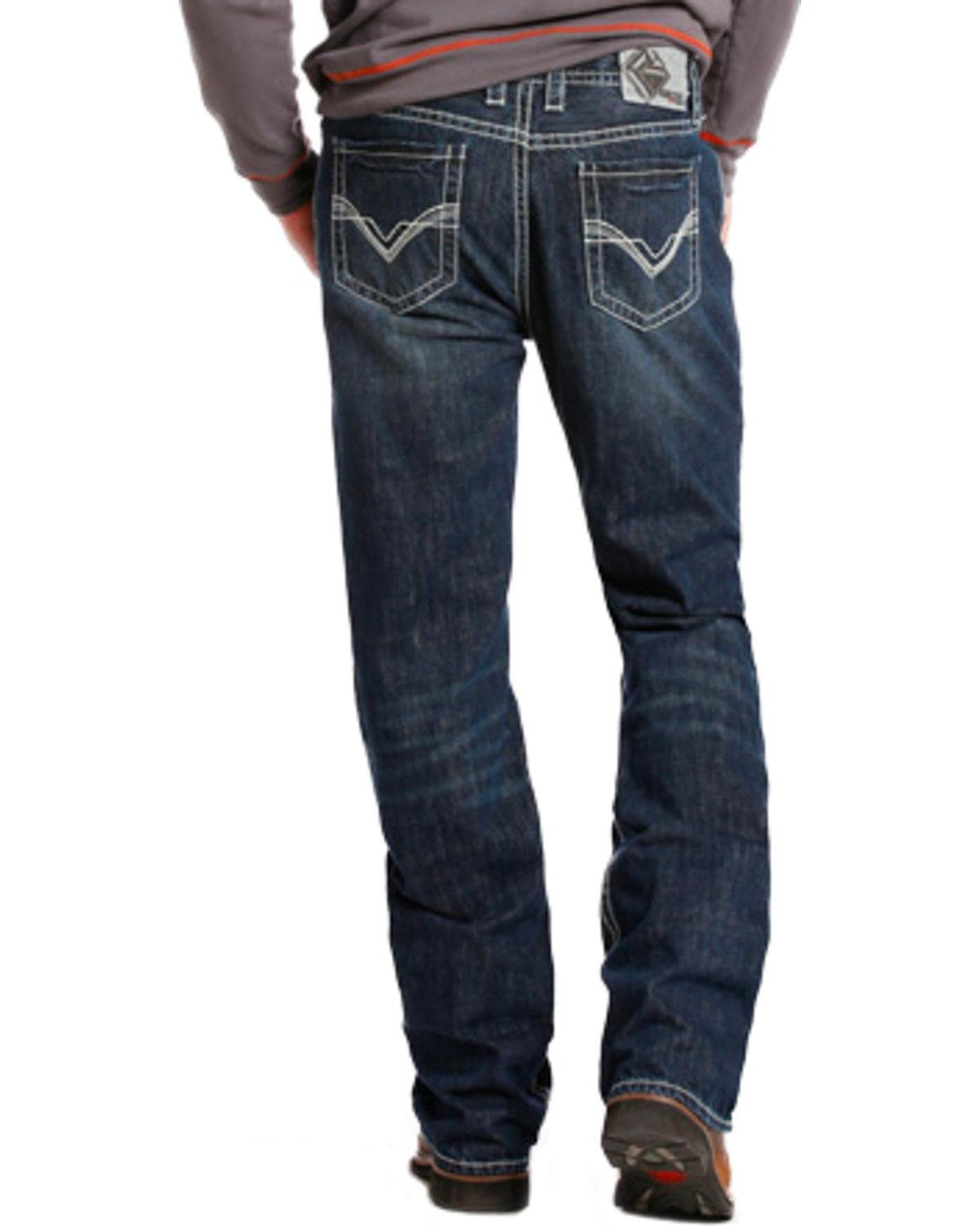 Rock & Roll Cowboy Men's And Double Barrel Relaxed Fit Flame Resistant Jeans Boot Indigo 28W x 30L