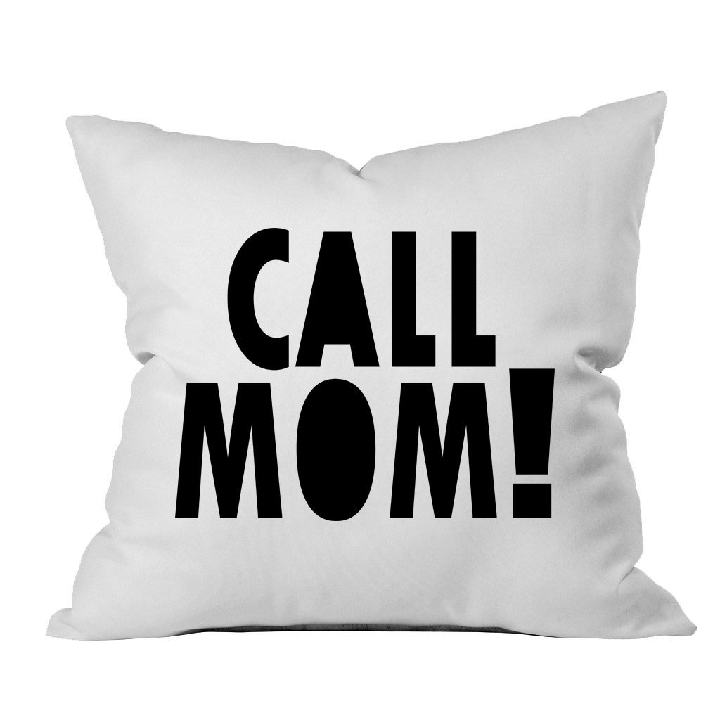 Oh, Susannah Call Mom! 18x18 Inch Throw Pillow Cover Dorm Room Accessories Graduation Party Supplies 2018 College Gifts by Oh, Susannah (Image #1)