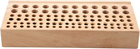 Polished Rod Leather Carving Tools Bonarty Wood Leathercraft Tool Rack Leather Craft Stamp Punch Tool Stand Holder Box Organizer 46 Holes for Storing Punch