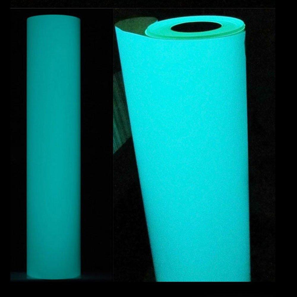 HOHOFILM 20x40 Glow in The Dark Blue Heat Transfer Vinyl Iron on Papers Heat Press Film DIY Tshirt HTV Garments and Other Fabrics