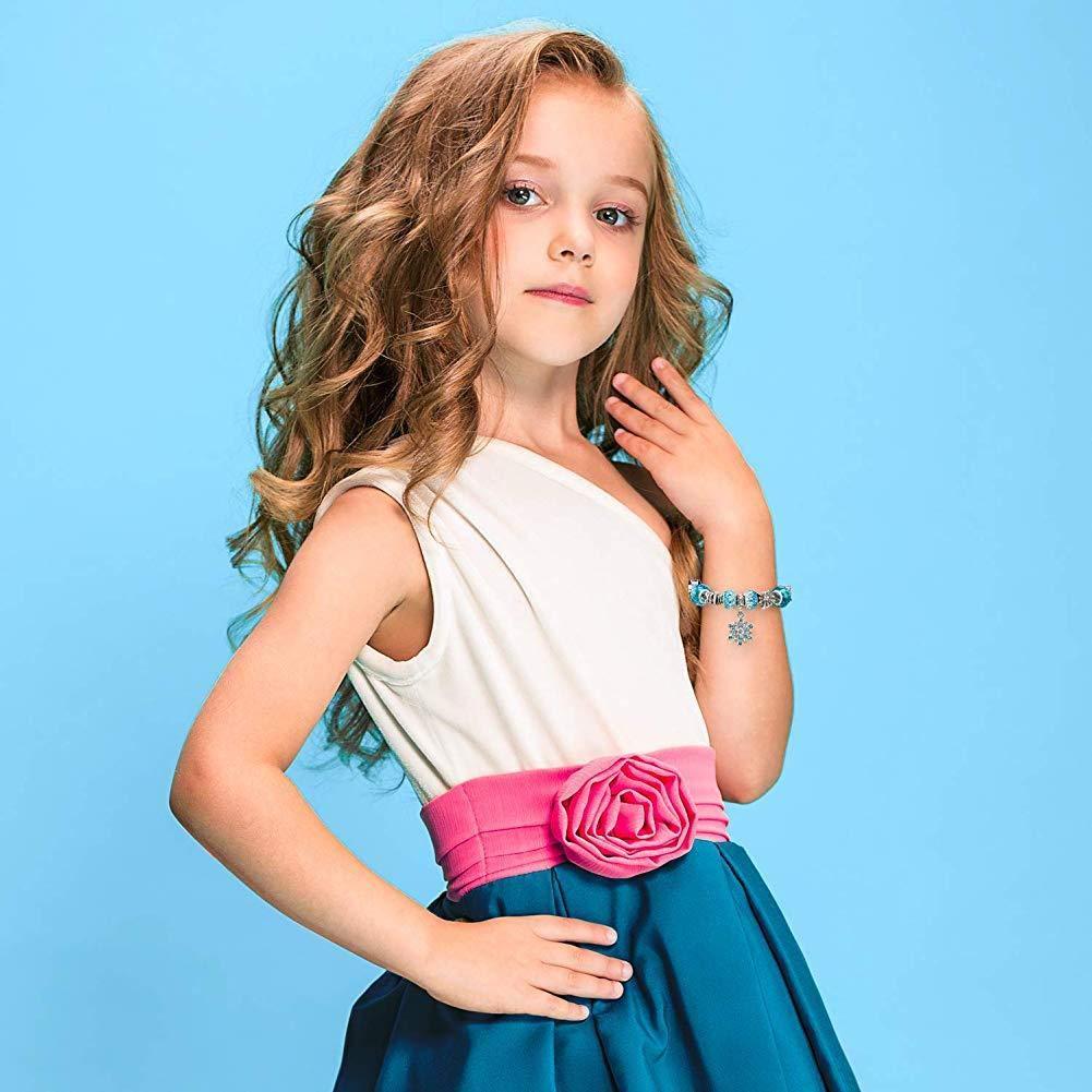 Stylisme Bracelet flocon de neige de neige de No/ël SkySparkly Bracelet cristal Bracelet /à breloques avec la bo/îte Set ForWomen Lady
