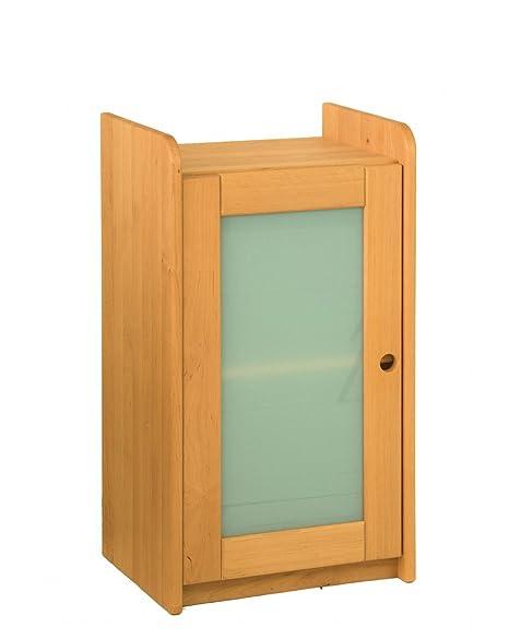 Biokinder 23158 Lara Shelf 80x44x35 With Smoked Glass Door
