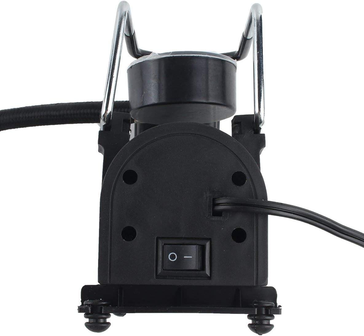 Rouku Bomba de inflador de neum/áticos de compresor de Aire el/éctrico port/átil para Coche de 12 V para Moto B Bomba de inflado de neum/áticos Estilo de Coche