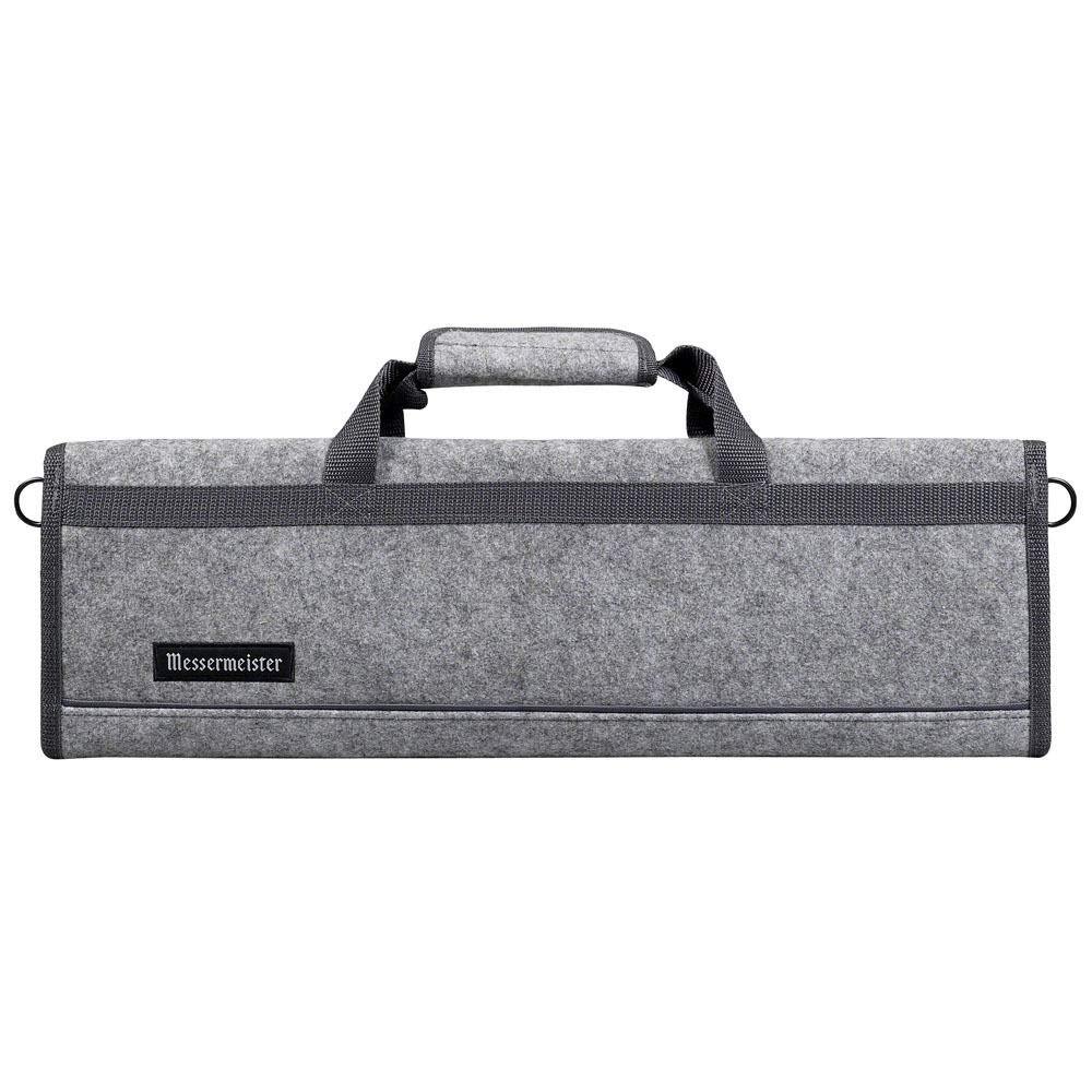 Messermeister 8 Pocket Felt Knife Storage Roll/Bag/Luggage - Heather Gray by Messermeister