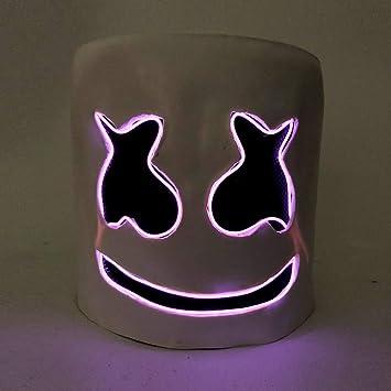 WZP DJ Marshmello Mascarilla Fiesta de la Mascara Festival de Musica Cascos Máscara de Fiesta de Disfraces de la Novedad Máscara de Cabeza Completa para ...