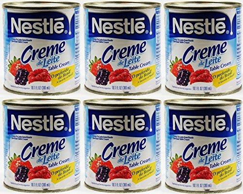 Nestlé Creme de Leite 300ml | Table Cream 10.1 Fl.Oz. (Pack of 06)