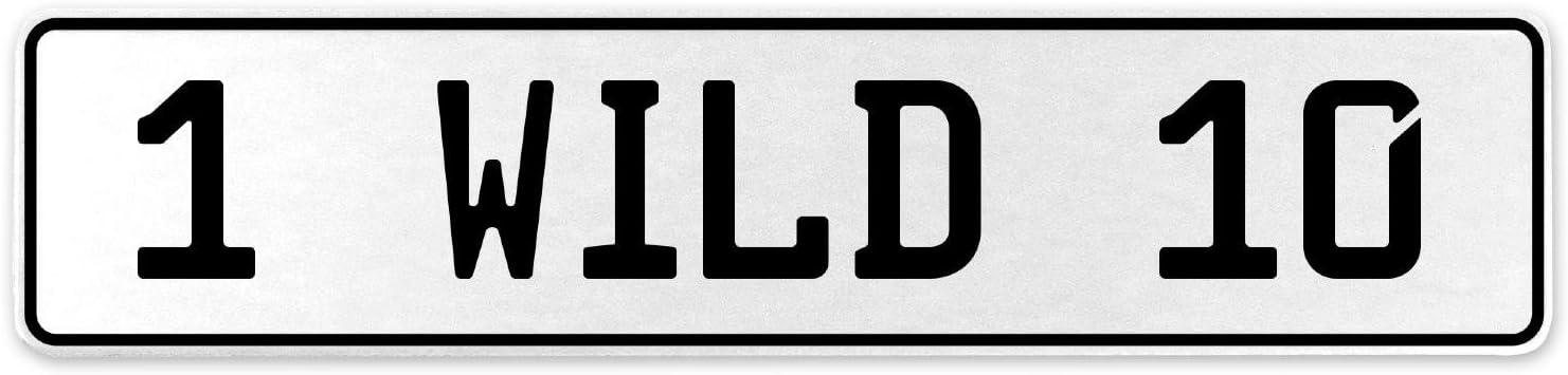 Vintage Parts 555894 1 Wild 10 White Stamped Aluminum European License Plate