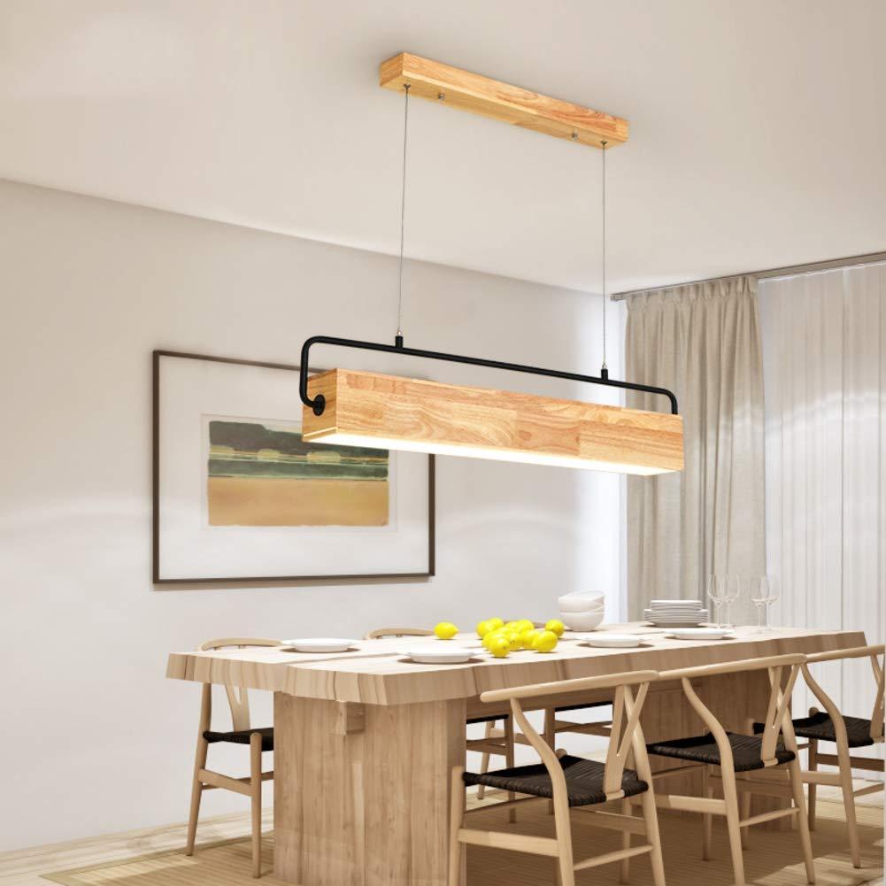 Amazon.com: Lámpara colgante de madera maciza con LED ...