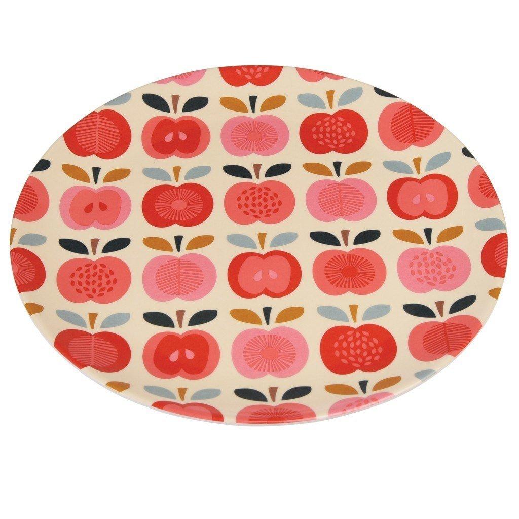 dotcomgiftshop Vintage Apple Melamine Plate Rex International Ltd