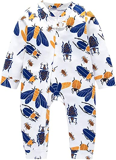 LNGRY Baby Romper,Toddler Newborn Kids Girls Boys Solid Color Hooded Button Romper Jumpsuit Playsuit Outfits Clothes