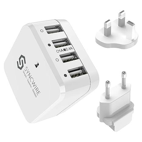 Syncwire Spartechnik - Cargador USB (6,8 A, 34 W, 4 Puertos ...